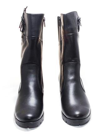 Сапоги женские зимние на меху (429). кожаная женская обувь