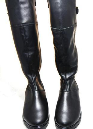 Сапоги женские зимние на меху (134). кожаная женская обувь