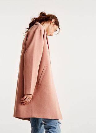Новое базовое пальто pull&bear (s,m,l) фасон кокон оверсайз oversize