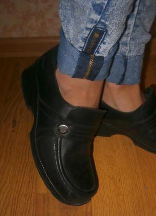 Крепкие, широкие ботиночки 25,5 кожа
