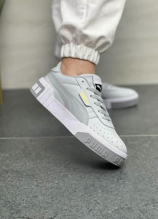 👟 женские кроссовки puma cali grey топ качества