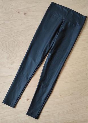 Легкие лосины брюки штаны   из кожзама  в отличном состоянии  quiz
