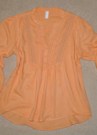 Оранжевая блуза vero moda
