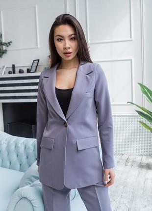 Пиджак серый, женский пиджак