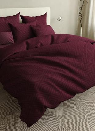 """Однотонный комплект постельного белья """"ромбы """""""