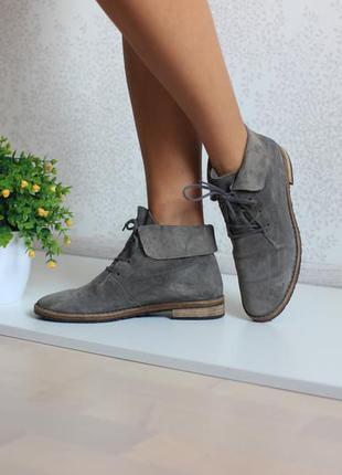 Замшевые кожаные ботинки монки оксфорды полусапожки, бренд paul green