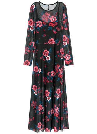 Новое великолепное платье-сеточка h&m. два в одном!