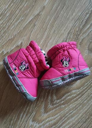 Ботиночки пинетки розовые для принцессы disney at george
