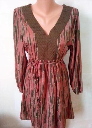 Платье с принтом,при покупке 3 вещей в подарок!!!