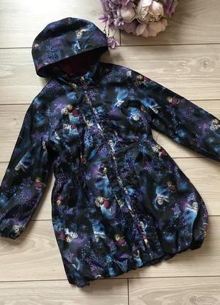 Удлинённая куртка ветровка эльза и анна холодное сердце