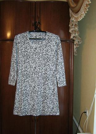Платье-сорочка marks&spencer, 100% хлопок, размер 8-10