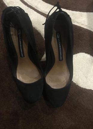 Туфли натуральный замш luciano carvari 38 размер