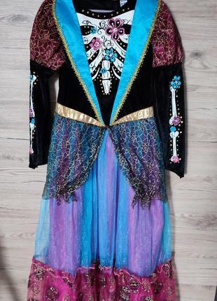 Детское платье, костюм ведьма, ведьмочка на 9-10 лет на хеллоуин