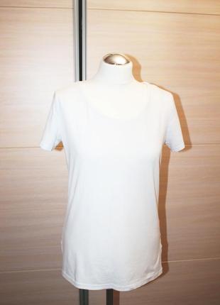 Белая базовая футболка h&m