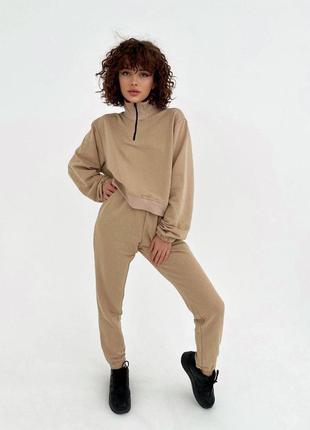 Качественный спортивный костюм кофта джоггеры свитшот замок