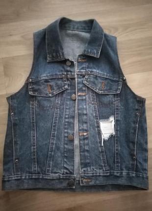 Джинсовый жилет, джинсовка