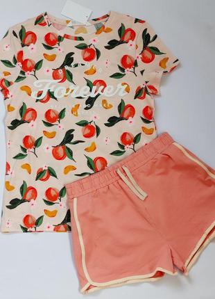 Комплект h&m и george футболка и шорты