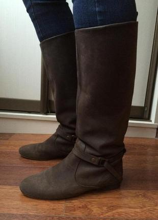 Замшевые ботинки massimo dutti