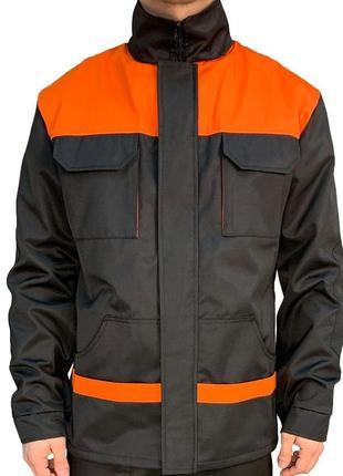 Куртка рабочая  eva trade pro черный с оранжевым