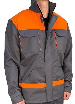 Куртка рабочая  eva trade pro серый с оранжевым