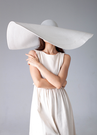 36 очень красивая стильная имиджевая широкополая шляпа