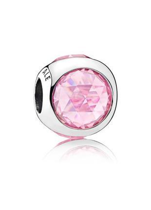 Нежный шарм розового цвета для браслета пандора pandora