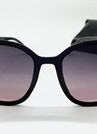 Atmosfera очки женские солнцезащитные черная  поляризованая классика с градиентом