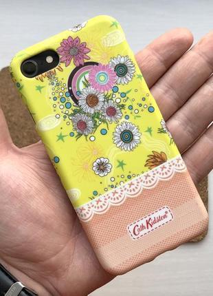 Чехол жёлтый чохол на для айфон iphone 7 / 8 силиконовый с принтом
