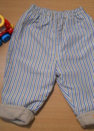 Теплые штанишки на байке,4-6 месяцев  рост 68!!!