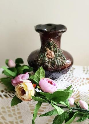 Винтажная вазочка, ваза с розой.