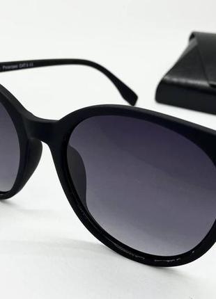 Atmosfera очки женские солнцезащитные черные матовые кругляшки с поляризацией
