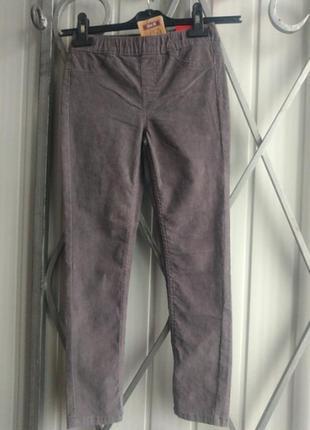 Штаны на девочку kiki & koko велюровые 134 размер джеггинсы джинсы