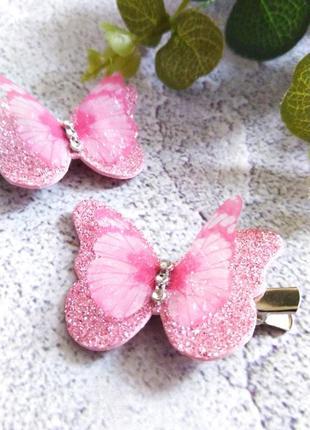 Заколки бабочки ручная работа