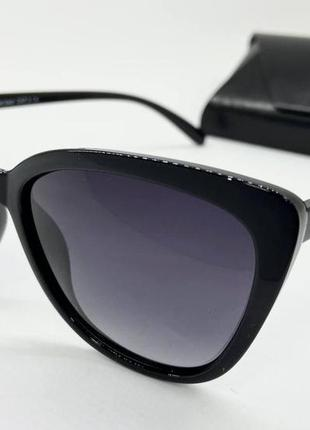 Atmosfera очки женские солнцезащитные черные глянцевые кошечки с поляризацией