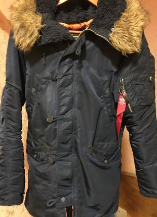 Куртка alpha industries  n-3b slim fit parka