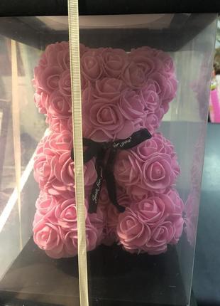Мішка із роз, мішка з фоамірану, мишка с фоамиранових роз