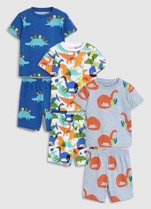 Пижама комплект футболка шорты динозавры next 3-4 года, 104 см.