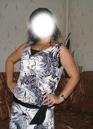 Платье сарафан с заниженной талией и открытой спинкой