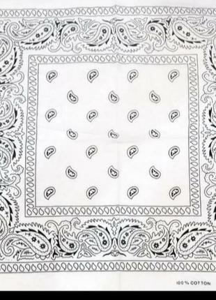 Бандана хлопковая 55×55 см белач
