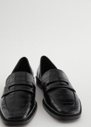 Стильные черные лоферы мюли мокасины зара zara