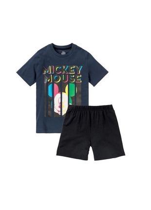 Пижама летняя disney, шорты и футболка, 122-128, 134-140, германия
