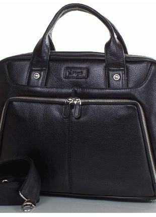 Кожаный портфель,  сумка karya 0655