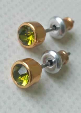 Серьги гвоздики pilgrim кристаллы сваровски