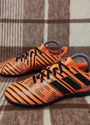 Футбольная обувь сороканожки бампы футзалки adidas messi