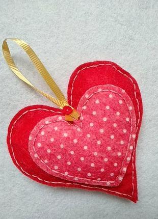 Серце ❤️ з фетру декор