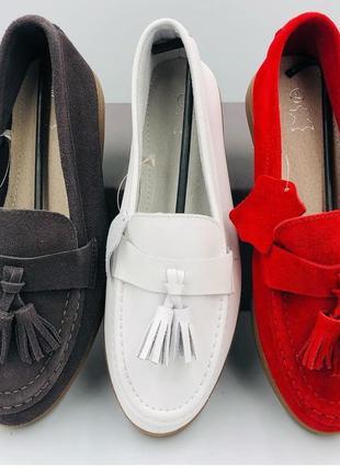 Женские замшевые  кожаные мокасины лоферы туфли, натуралки,36-41
