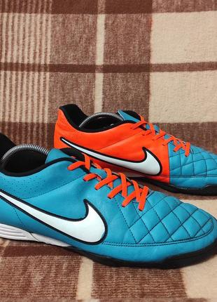 Футбольная обувь сороканожки футзалки бампы nike tiempo