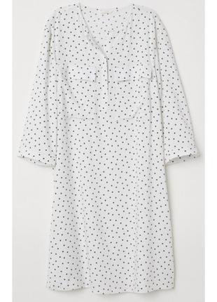 Белое платье /плаття/сукня в горошек h&m