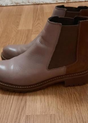 Ботинки челси tamaris кожа