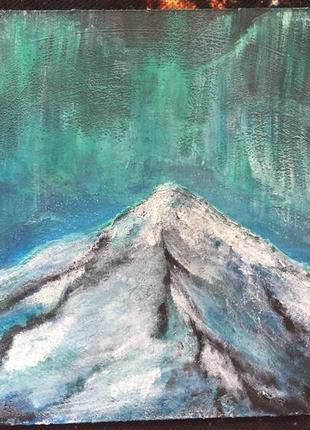 Картина акрил акриловые краски 15х15см